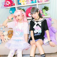 LISTEN FLAVOR Tomboy Unicorn Lace-Up Sailor Cutsew