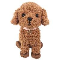 PUPS! Medium Brown Toy Poodle Plush