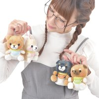 Mameshiba San Kyodai Puppy Dog Plush Collection (Ball Chain)
