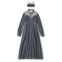 SUKIYAKI Russian Blue Nighty Dress Set