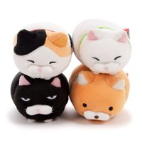 Tsumeru! Mochikko Hige Manjyu Mascot Cat Plush Collection