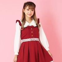 LIZ LISA Checkered Ribbon Jumper Skirt