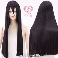 Straight Black 70 cm Wig