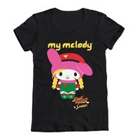 Sanrio My Melody X Street Fighter Cammy  T-shirt