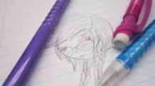 Touko Fukawa Pencil Sketch
