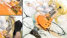 [Live Painting] Guitar magnetic wave!