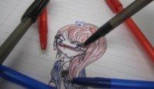Megane Junko Pen Sketch