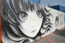 wall graffiti @Abu Dhabi art hub