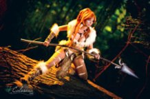 Nidalee (League of Legends) cosplay by Calssara