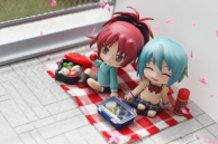 Lunch with Sayaka Miki and Kyouko Sakura