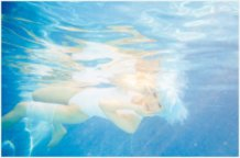 Rei Ayanami Under Water / White swimming wear