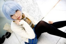 Rei Ayanami Cosplay (Evangelion /prize figure ver.)