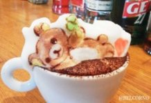 Rilakkuma 3D Latte Art