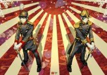 Japanese Men Dressed in Military Uniforms