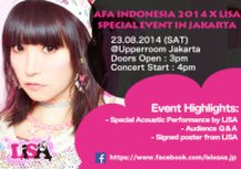"""""""AFA Indonesia 2014 X LiSA Special Event in Jakarta"""""""