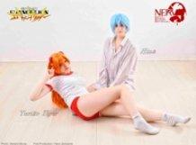 Asuka and Rei cosplay by Yuriko & Hina