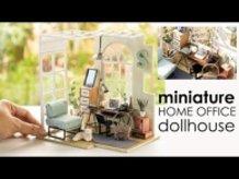 DIY Miniature Dollhouse - Minimalist Home Office Room | Lightake.com