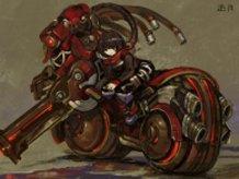 Old Assault-Type Motorcycle Jintuki