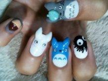 Totoro Nails!!!