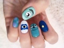 Monsters, Inc. Nail Art!