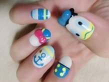 Donald Duck - Disney x Wonderful Design Works Nail Art!!