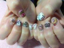 Sailor Moon Chibiusa Nails!!!!