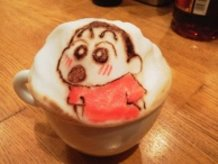 3D Latte Art Crayon Shin-chan
