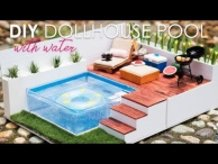 DIY Dollhouse Swimming Pool Set Tutorial For Nendoroid, LPS, Dolls