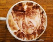 Latte Art [Old Snake] Metal Gear Solid
