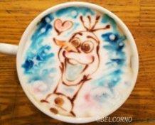 Latte Art [Olaf] Frozen