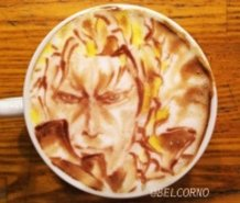 Latte Art [Liquid Snake] @Metal Gear Solid