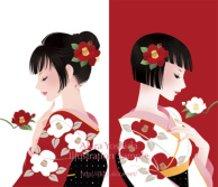 Camellia Girls - Crimson Camellia