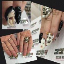 3D nail of Japanese Noh.