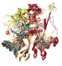 Reimu & Sanae in Heco style