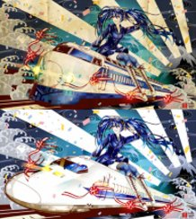 [Hatsune Miku] Blue-Colored Stripe [Shinkansen 50th Anniversary!!] Submitted Illustration