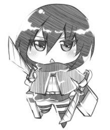 Shingeki no Chibi - Mikasa