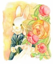 A lovely bride of rabbit