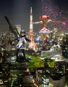 Giantess : Madoka and Homura  (Puella Magi Madoka Magica)