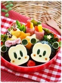 Mickey and Minnie-chan Onigiri ♪