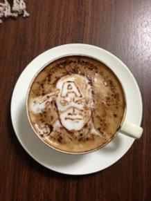latte art~captain America~