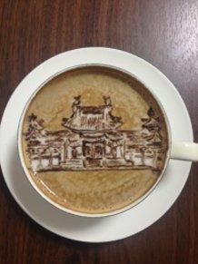 latte art~hou-ou-dou~