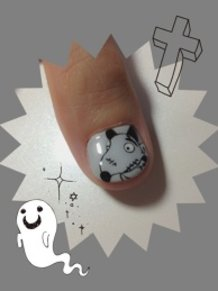 Sparky from Frankenweenie Nails!