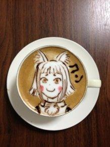 latte art~fox girl~