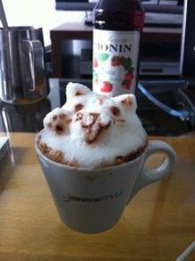 3D-latte art-cat