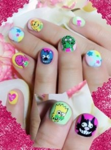 Barney & Friends and The Simpsons Nails!