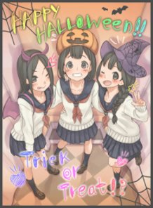 Taking Photos in a Halloween Picture Booth!