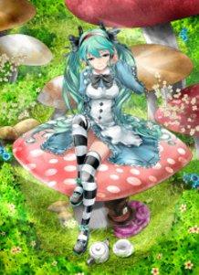 Hatsune Miku in Wonderland