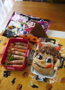 Peko-chan Halloween Bento