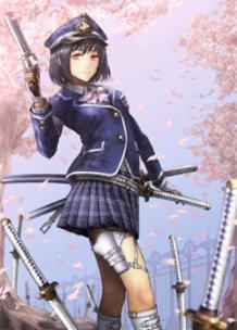 Armed High School Girl