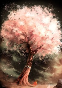Wind Blowing Through a Cherry Tree
